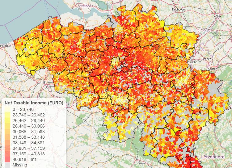 BelgiumMaps.StatBel: R package with Administrative boundaries of Belgium